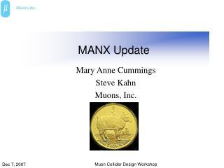 MANX Update