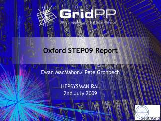 Oxford STEP09 Report