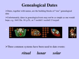 Genealogical Dates