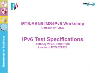 MTS IPv6 Testing Activities