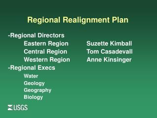Regional Realignment Plan