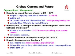 Globus Current and Future
