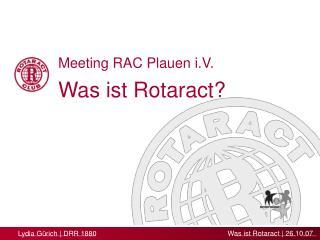 Was ist Rotaract?