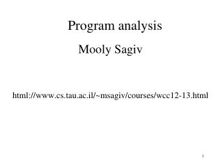 Program analysis