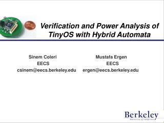 Verification and Power Analysis of TinyOS with Hybrid Automata