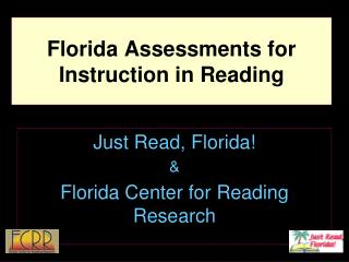 Florida Assessments for Instruction in Reading