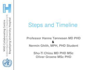 Steps and Timeline