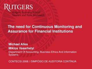 The need for Continuous Monitoring and Assurance for Financial Institutions