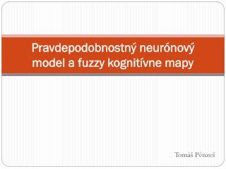 Pravdepodobnostný neurónový model a fuzzy kognitívne mapy