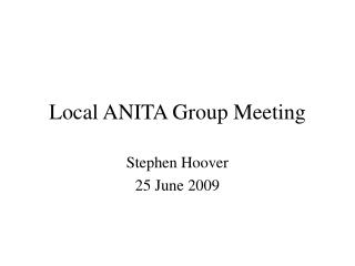 Local ANITA Group Meeting