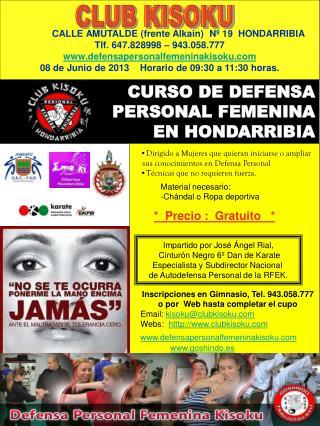 CURSO DE DEFENSA PERSONAL FEMENINA EN HONDARRIBIA