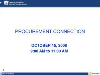PROCUREMENT CONNECTION