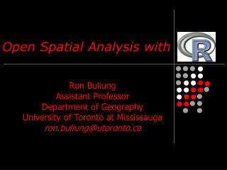 Open Spatial Analysis with