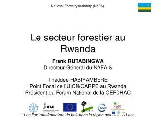 Le secteur forestier au Rwanda