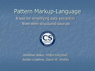 Pattern Markup-Language