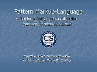 Pattern Markup-Language