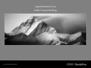 Capital Markets Focus Public Finance Banking