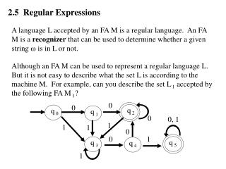 2.5  Regular Expressions