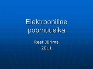 Elektrooniline popmuusika
