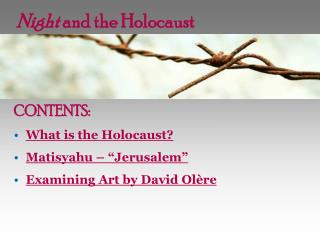 Night  and the Holocaust
