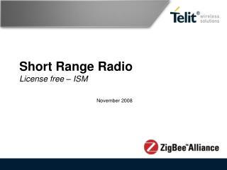 Short Range Radio License free – ISM