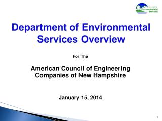 Department of Environmental Services Overview