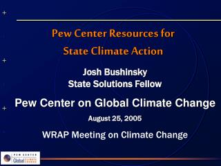 Pew Center Resources for  State Climate Action