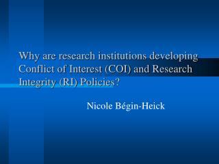 Nicole Bégin-Heick