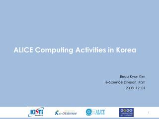 ALICE Computing Activities in Korea