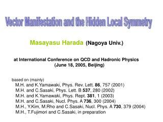 Masayasu Harada (Nagoya Univ.)