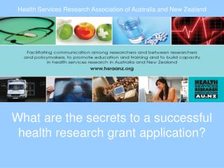 What are the secrets to a successful health research grant application?