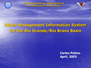 Water Management Information System  for the Rio Grande/Rio Bravo Basin
