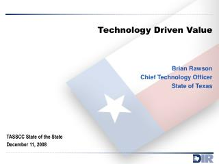 Technology Driven Value