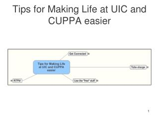 Tips for Making Life at UIC and CUPPA easier