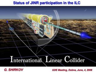 Status of JINR participation in the ILC