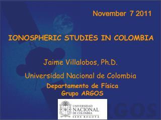 IONOSPHERIC STUDIES IN COLOMBIA