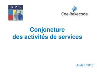 Conjoncture  des activités de services