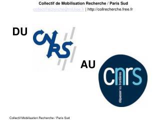 Collectif de Mobilisation Recherche / Paris Sud