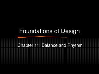 Foundations of Design