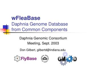 wFleaBase Daphnia Genome Database  from Common Components
