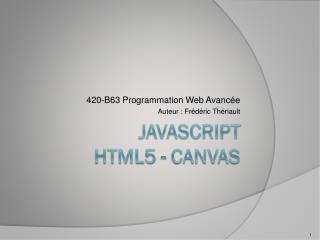 Javascript HTML5 - CANVAS