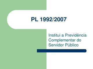PL 1992/2007
