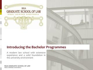 Introducing the Bachelor Programmes