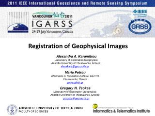 Registration of Geophysical Images