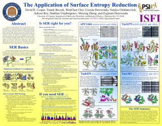 The Application of Surface Entropy Reduction
