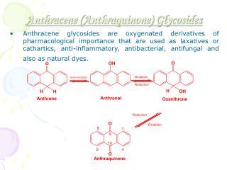 Anthracene (Anthraquinone) Glycosides