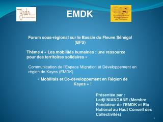 Forum sous-régional sur le Bassin du Fleuve Sénégal (BFS)