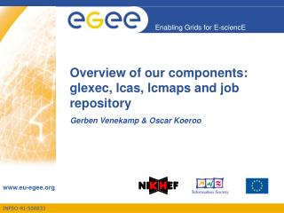Overview of our components: glexec, lcas, lcmaps and job repository