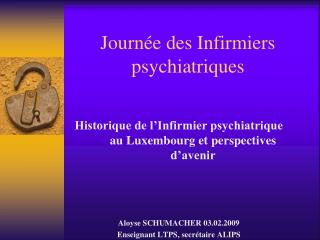 Journée des Infirmiers psychiatriques