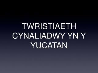 TWRISTIAETH CYNALIADWY YN Y YUCATAN
